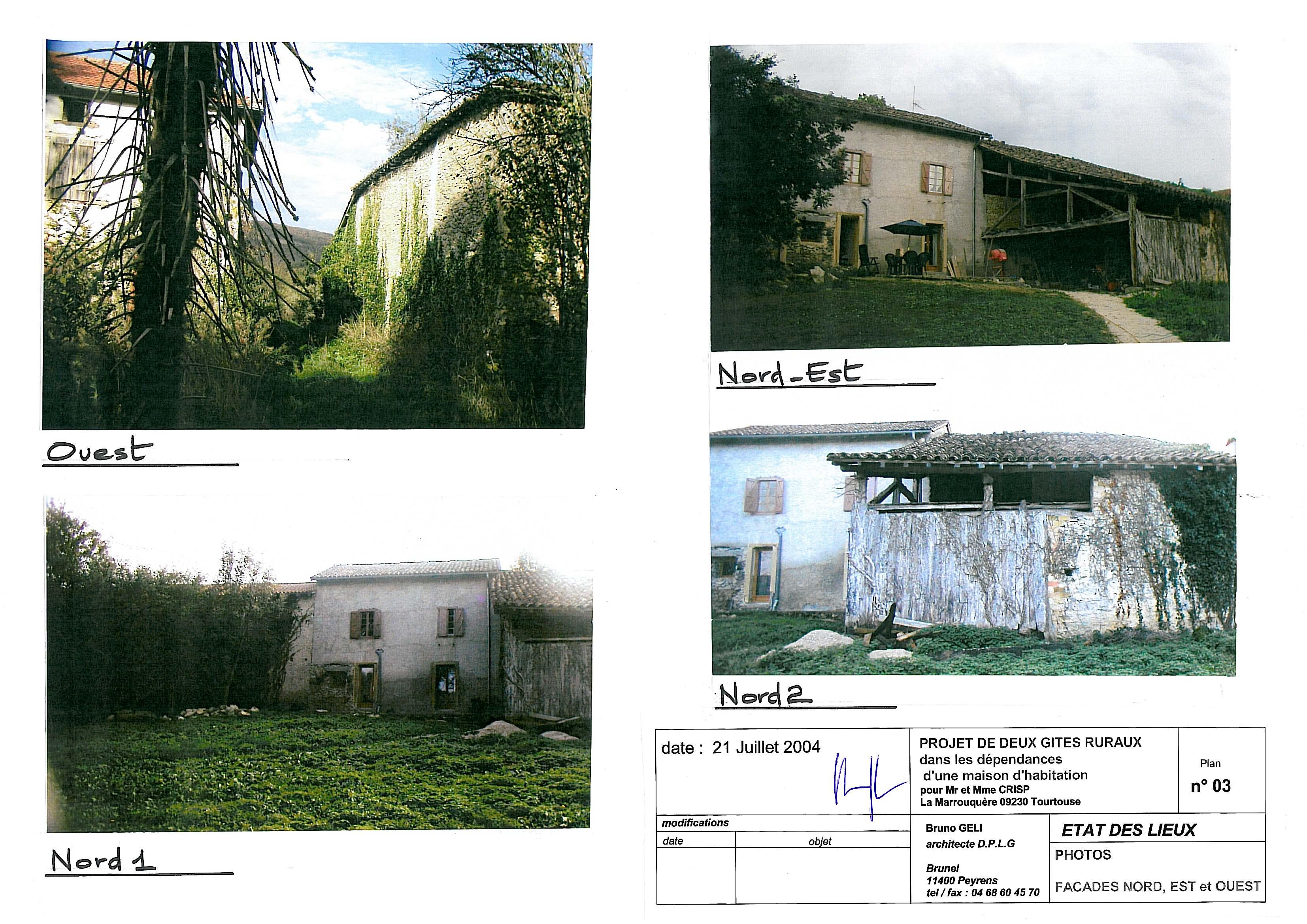 Etat des lieux, photos autres façades