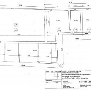 Etat des lieux, plan du rez de chaussée