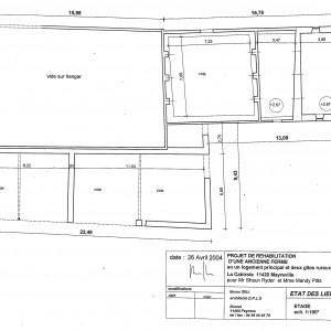 Etat des lieux, plan de l'étage