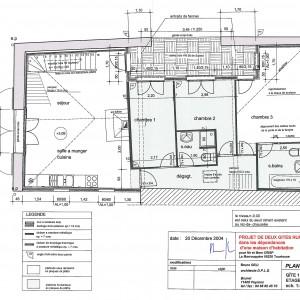 Plans d'exécution, gîte 1, étage