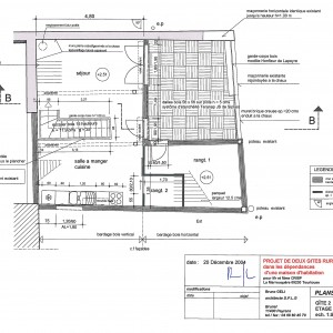 Plans d'exécution, gîte 2, étage