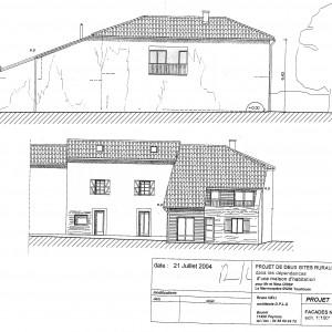 Projet, façades Nord et Ouest