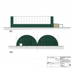 Projet , façades Sud et Est