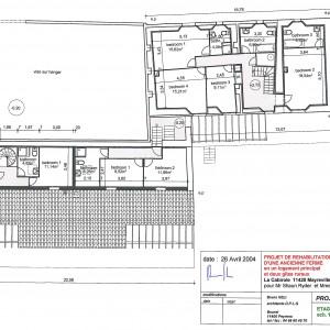 Projet , plan de l'étage
