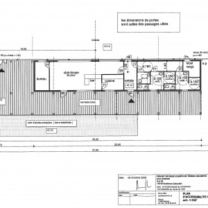 Projet, plan des annexes et d''accessibilité
