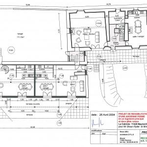 Projet , plan du rez de chaussée