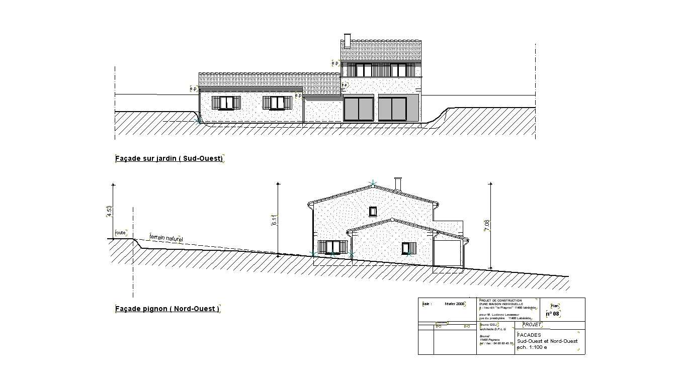 une maison neuve en lisi re d un village bruno geli architecte dplg lab ge. Black Bedroom Furniture Sets. Home Design Ideas
