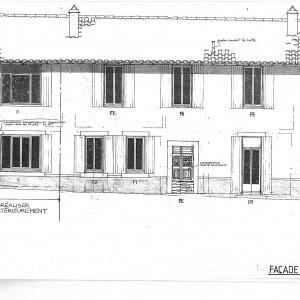 Projet; façade Sud