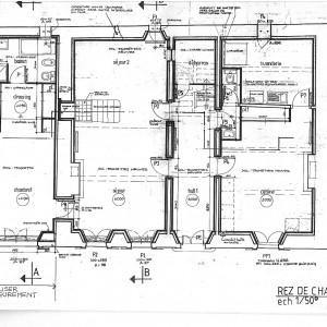 Projet; plan du rez de chaussée